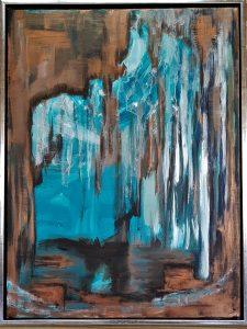 Grotte - acryl på lærred – 80 x 60 cm – 3.500,- kr.