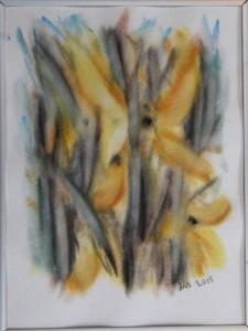 Akvarel Forår (nr. 13) - 24 x 18 cm - Pris 280,- kr.