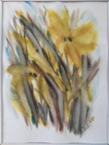 Akvarel Forår (nr. 16) - 24 X 18 cm - Pris 280,- kr.