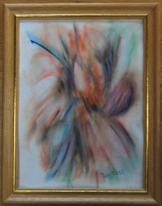 Akvarel Orange (nr. 6) - 24 x 18 cm - Pris 280,- kr.