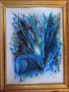 Akvarel Blå (nr. 8) - 18 x 24 cm) - Pris 280,- kr.
