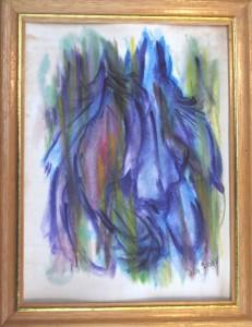 Akvarel Blå (nr. 9) - 24 x 18 cm - Pris 280,- kr.