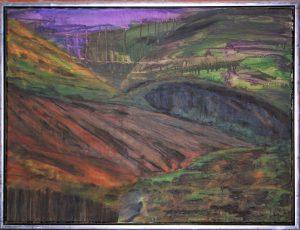 Bakkerne – acryl på lærred – 60 x 80 cm – 2.500 kr.