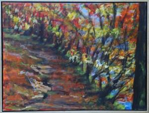 Efterårsskov – acryl på lærred – 60 x 80 cm – 2.500 kr.