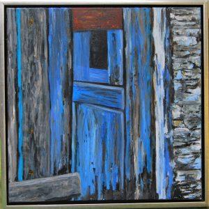 Græske Døre l – acryl på lærred – 50 x 50 cm – 1.500,- kr.