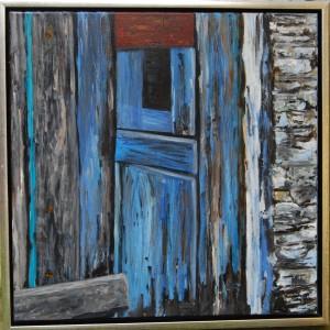 Græske Døre l - acryl på lærred - 50 x 50 cm - 1.500,- kr.
