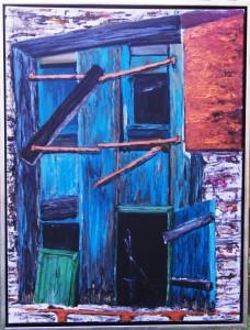 Græske Døre ll - acryl på lærred - 80 x 60 cm - 3.000 kr.
