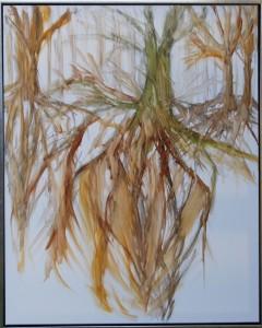 Grounded – acryl på lærred - 100 x 80 cm – Pris 3.500,- kr