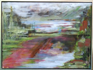 Udblik - indsigt - acryl på lærred - 60 x 80 cm – 2.500,- kr.