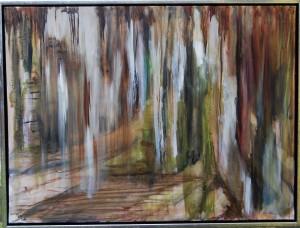 Lys i vinerskoven – 60 x 80 cm – 2.500 kr.