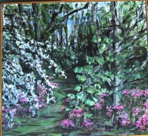 Min Have - acryl på lærred - 93 x 100 cm - 2.500,- kr.