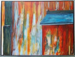 Muren – acryl på lærred -  60 x 80 cm – 2.500,- kr.