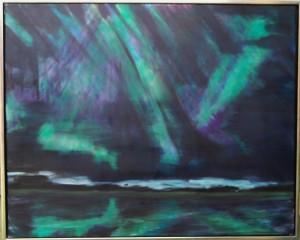 Nordlys – acryl på lærred - 80 x 100 cm – 3.000,- kr.