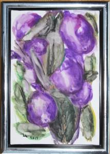 Oliven - acryl på lærred - 30 x 20 cm - 380,- kr.