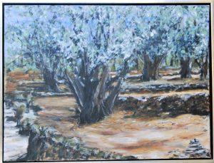 Olivenlind ll – acryl på lærred – 60 x 80 cm – 2.500,- kr.