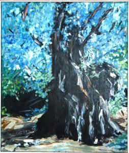 Oliventræ l - acryl på lærred - 90 x 78 cm - 3.800,- kr.