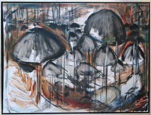 Skovbund - acryl på lærred – 60 x 80 cm – 2.500,- kr.