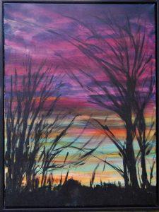 Skumring – acryl på lærred – 80 x 60 cm – 2.500,- kr.