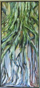 Grounded ll – acryl på lærred – 90 x 40 cm – 2.800,- kr.