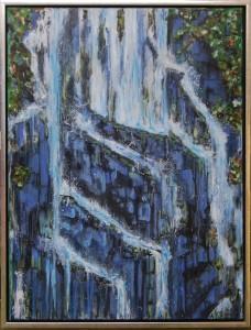 Vand og Klipper – acryl på lærred – 80 x 60 cm – 2.700,- kr.