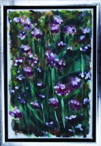 Violette Urter - acryl på lærred - 30 x 20 cm - 380,- kr.