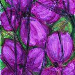 Violette Blomstergrene